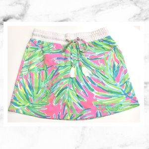 Lilly Pulitzer Zia Skirt in Tiki Pink Royal Lime